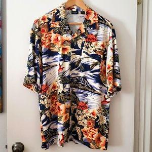 Guess Jeans Hawaiian Shirt 100% Rayon Size Medium